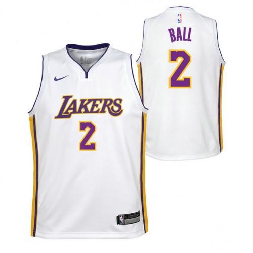 Lonzo Ball  2 - Adolescentes Los Angeles Lakers Nike Icon Swingman Camiseta  de la NBA Baratas Outlet 49dafbbac63