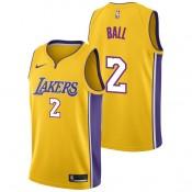 Lonzo Ball #2 - Hombre Los Angeles Lakers Nike Association Swingman Camiseta de la NBA Baratas España