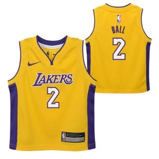 Los Angeles Lakers Nike Icon Replica Camiseta de la NBA - Lonzo Ball #2 - Niño Oficiales