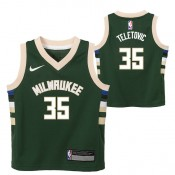 Milwaukee Bucks Nike Icon Replica Camiseta de la NBA - Mirza Teletovic - Niño Precio Promocional
