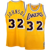 "Mitchell & Ness Earvin ""Magic"" Johnson Los Angeles Lakers Hardwood Classics Authentic Throwback Home Camiseta - Oro Baratas Precio"