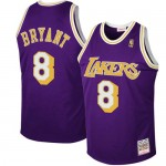 Moda Mitchell & Ness Los Angeles Lakers #8 Kobe Bryant Púrpura 1997 Authentic Hardwood Classics Road Camiseta