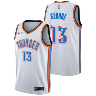 Paul George - Hombre Oklahoma City Thunder Nike Association Swingman Camiseta de la NBA Ventas Baratas Oviedo