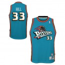 Rebajas en Youth Detroit Pistons Grant Hill Hardwood Classics Road Swingman Camiseta Madrid