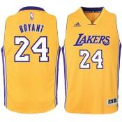 Youth Los Angeles Lakers Kobe Bryant Gold Swingman Camiseta de baloncesto Codigo Promocional