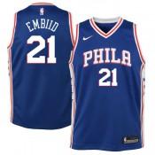 Youth Philadelphia 76ers Joel Embiid #21 Azul Swingman Camiseta Barcelona