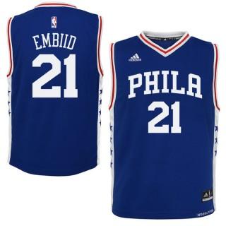 Youth Philadelphia 76ers Joel Embiid #21 Royal Camiseta Madrid Tienda